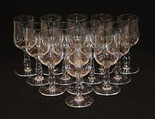 13 Baccarat Longchamps 5-1/2 Inch White Wine Stems Glasses