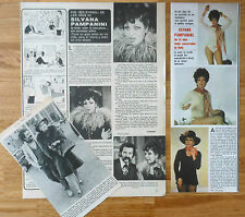 SILVANA PAMPANI spanish clippings 1970s photos magazine italian actress