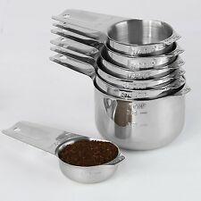 1Easylife 18/8 Stainless Steel Measuring Cups, Set of 7 Including Perfect 1/8