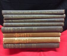 """Lot of 8 Antique """"International Library of Music"""" 1925 copyright Charles Dennee"""