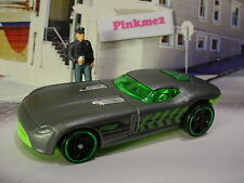 2016 POLICE PURSUIT Exclusive FAST FELION☆Satin Gray/Green☆LOOSE Hot Wheels