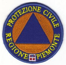 [Patch] PROTEZIONE CIVILE REGIONE PIEMONTE cm 8 toppa ricamata ricamo -070g