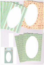 OVAL WINDOW CARDS & ENVELOPES   12 ASSORTED - 5 x 7