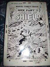 S.H.I.E.L.D. Nick Fury #4 11X17 Jim Steranko signed original comic stat art LOOK