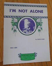 I'm Not Alone by Eddie Rink Sheet Music 1961