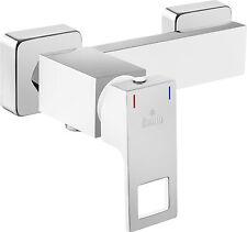 Einhandmischer Bad Badezimmer Wasserhahn weiß und Chrom Dusch Armatur Duschbrau