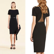 GUCCI BLACK JERSEY /NET ACCENT/ FITTED DRESS, sz.10, New ,$1750,ITALY