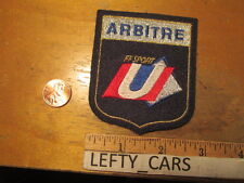 ARBITRE FF SPORT EMBROIDERED CLOTH PATCH - SEW ON TYPE