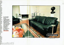 PUBLICITE ADVERTISING 016  1985  ROCHE-BOBOIS  canapé Hockey  (2p)  OTERO