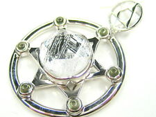 NATURAL GIBEON METEORITE STAR OF DAVID 925 STERLING SILVER PENDANT