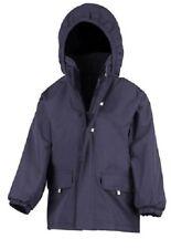 Childs Kids Boys Girls Rugged School Warm Winter Fleece Lined Long Coat Jacket