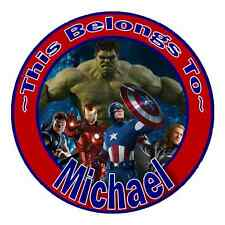 24 Personalized AVENGERS Property Stickers for school books name tags labels