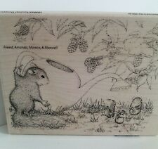 "House Mouse Stampendous ""Squirrel Showers"" WM Rubber Stamp"
