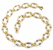 CHUNKY CHAIN LINK & CRYSTAL RHINESTONE Choker Collar Pendant Statement Necklace