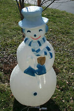 "Rare Union Products Christmas Blowmold 40"" Snowman Hollywood Edition"