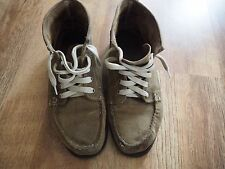 Men's Sebago Khaki Suede Beacon Shoes Size 9.5
