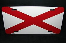 ALABAMA STATE FLAG METAL NOVELTY  LICENSE PLATE TAG FOR CARS