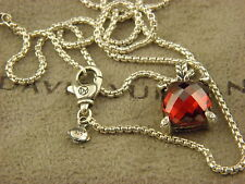 David Yurman Chatelaine Pendant Necklace with Garnet and Diamonds