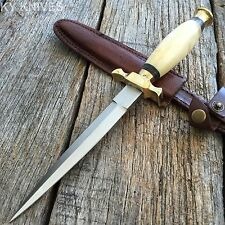 "10.5"" REAL BONE Medieval Renaissance Fantasy Dagger hunting knife"