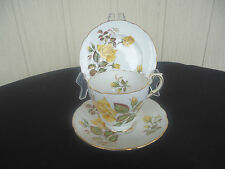 vintage paragon sunset trio yellow rose  cup & saucer plate bone china england