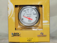 "Auto Meter 4327 Ultra-lite Electric Oil Pressure Gauge- 2 1/16"" CHEVY FORD BOAT"