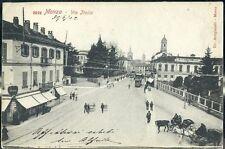 1900 - Monza - Via Italia con tramvia in arrivo