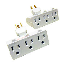 NEW 2pcs 3 Outlet Three Prong Swivel Adapters,Triple Your Outlet Space