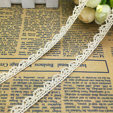 NEW 2 Yard 10mm Wide Vintage Embroidered Lace Sewing Trim Crafts #A06