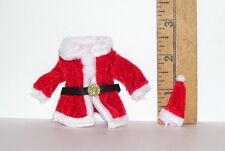 DOLLHOUSE FASHION DOLL MINIATURE SANTA CLAUS COAT AND HAT