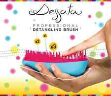 DESSATA HAIR DETANGLING BRUSH PALM-SIZED HANDLE-LESS TANGLE-FREE (CHOOSE COLOR)