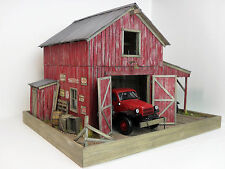 1:24 1:25 Danbury Mint / Franklin Mint Barn / garage diorama with lights 50 pics
