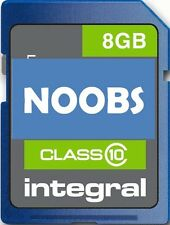 8GB Integral Class 10 SD Card with NOOBS for Raspberry Pi  For Model A&B 45mb/s