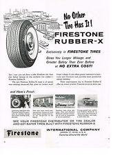 PUBLICITE ADVERTISING    1959   USA  FIRESTONE  pneus