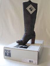 NIB FRYE Carson Mid Heel Tab Boots in Charcoal Sz 8.5 Style #77668