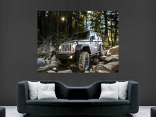 Jeep wrangler 4X4 off road voiture art mural grande image giant poster