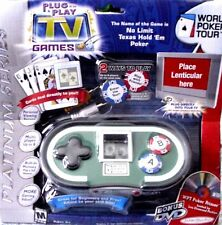 Jakks Pacific World Poker Tour Plug & Play Game Texas No Limit built in mem