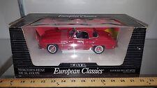 1/18 ERTL EUROPEAN CLASSICS 1960 MERCEDES BENZ 190 SL COUPE RED bd