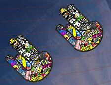 2x Shocker pegatina Bomba Todo Color Funny car/van/window / parachoques Impreso pegatinas