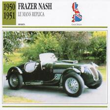 1950-1951 FRAZER NASH Le Mans Replica Sports Classic Car Photo/Info Maxi Card