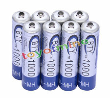 Batteria 8x AAA 1000mAh 1.2V Ni-MH ricaricabile 3A BTY cellulare per MP3 RC Toys