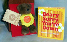 BOYD'S TEDDY BEAR & Booklet ~ BEARLY SORRY YOU'RE DOWN w/FREE SHIPPING