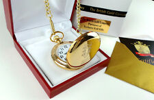 BB KING REAL 24K GOLD clad Signed Autographed POCKET WATCH  LUXURY Gift Case
