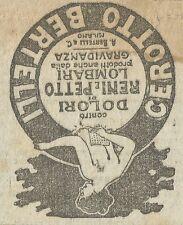 W3624 Cerotto BERTELLI contro i dolori di reni e petto - Pubblicità 1916 - Adv.