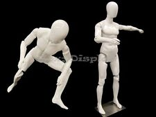 Fiberglass Male Mannequin with Flexible Head, Arms and Legs Display #MD-Z-MFXWEG