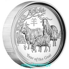 2015 Australia Lunar Year Of Goat High Relief Proof 1oz Silver Coin COA & Box !!
