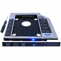 2nd HDD SSD Hard Drive Caddy Adapter replace laptop 9.5mm SATA Optical Drive DVD