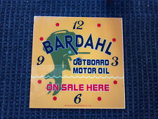 """*NEW* 15"""" SQUARE BARDAHL OUTBOARD BOAT MOTOR OIL GAS GLASS FACE FOR PAM CLOCK"""