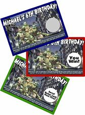 TEENAGE MUTANT NINJA TURTLES SCRATCH OFFS PARTY GAMES GAME CARDS BIRTHDAY FAVORS
