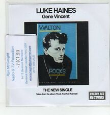 (ER703) Luke Haines, Gene Vincent - 2013 DJ CD