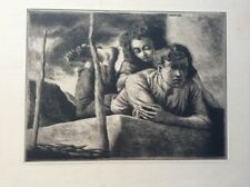 Federico Castellon Etching Name In Print Plate